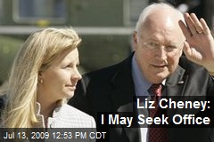 Liz Cheney: I May Seek Office