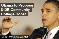 Obama to Propose $12B Community College Boost