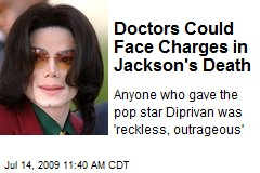 Doctors Could Face Charges in Jackson's Death