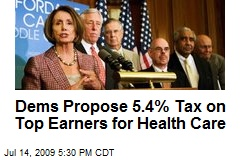 Dems Propose 5.4% Tax on Top Earners for Health Care