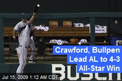 Crawford, Bullpen Lead AL to 4-3 All-Star Win