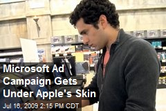 Microsoft Ad Campaign Gets Under Apple's Skin