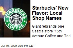 Starbucks' New Flavor: Local Shop Names