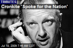 Cronkite 'Spoke for the Nation'