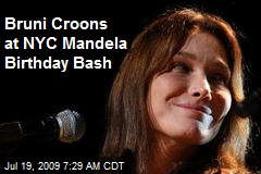 Bruni Croons at NYC Mandela Birthday Bash