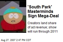 'South Park' Masterminds Sign Mega-Deal