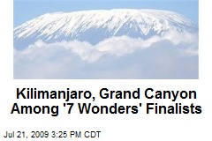 Kilimanjaro, Grand Canyon Among '7 Wonders' Finalists