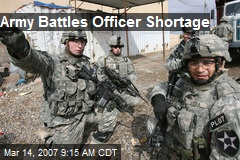 Army Battles Officer Shortage