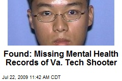 Found: Missing Mental Health Records of Va. Tech Shooter