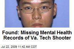Found: Missing Mental Health Records of Va. Tech Shooter