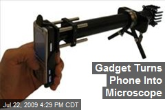 Gadget Turns Phone Into Microscope