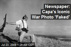 Newspaper: Capa's Iconic War Photo 'Faked'
