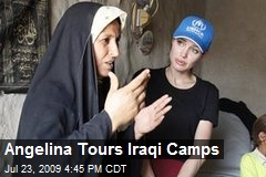 Angelina Tours Iraqi Camps