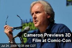Cameron Previews 3D Film at Comic-Con