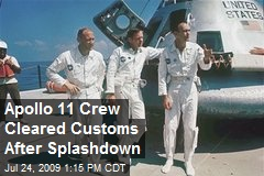 Apollo 11 Crew Cleared Customs After Splashdown