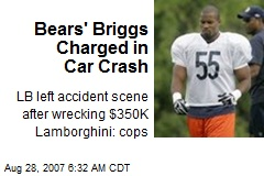 Bears' Briggs Charged in Car Crash