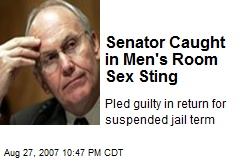Senator Caught in Men's Room Sex Sting