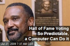 Hall of Fame Voting So Predictable, a Computer Can Do it