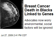 Breast Cancer Death in Blacks Linked to Genes