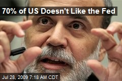 70% of US Doesn't Like the Fed