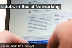 5 Jobs in Social Networking