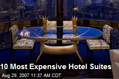 10 Most Expensive Hotel Suites
