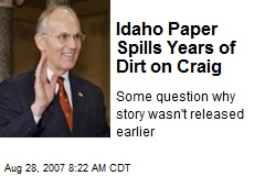 Idaho Paper Spills Years of Dirt on Craig
