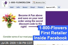 1-800-Flowers First Retailer Inside Facebook