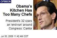 Obama's Kitchen Has Too Many Chefs
