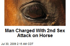 Man Charged With 2nd Sex Attack on Horse