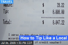 How to Tip Like a Local