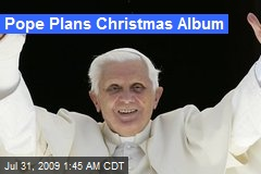 Pope Plans Christmas Album