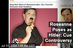 Roseanne Poses as Hitler: Cue Controversy