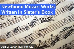 Newfound Mozart Works Written in Sister's Book