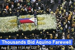 Thousands Bid Aquino Farewell