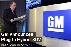 GM Announces Plug-In Hybrid SUV