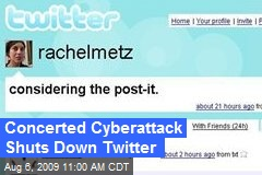 Concerted Cyberattack Shuts Down Twitter