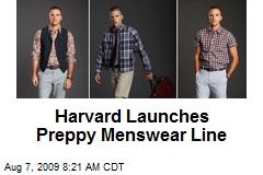 Harvard Launches Preppy Menswear Line