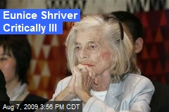 Eunice Shriver Critically Ill