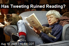 Has Tweeting Ruined Reading?