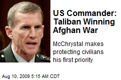 US Commander: Taliban Winning Afghan War