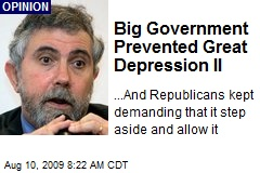 Big Government Prevented Great Depression II