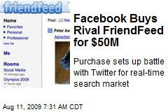Facebook Buys Rival FriendFeed for $50M
