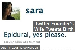 Twitter Founder's Wife Tweets Birth