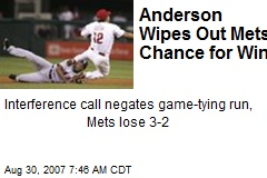 Anderson Wipes Out Mets' Chance for Win