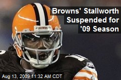 Browns' Stallworth Suspended for '09 Season