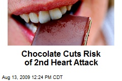 Chocolate Cuts Risk of 2nd Heart Attack