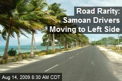 Road Rarity: Samoan Drivers Moving to Left Side