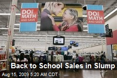 Back to School Sales in Slump