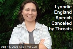 Lynndie England Speech Canceled by Threats